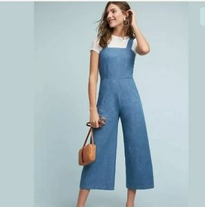 Anthropologie Denim Chambray Jumpsuit NWT MD
